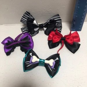 4 Nightmare Before Christmas Character Hair bows